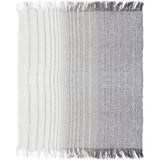 Lanose Classy Farmhouse Fringed Throw Blanket - Cream