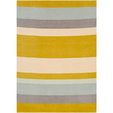 Meadowlark Colorblock Farmhouse Throw Blanket by Emma Gardner - Mustard