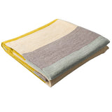 Meadowlark Colorblock Modern Throw Blanket by Emma Gardner - Mustard
