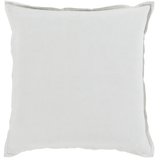 Orianna Simple Farmhouse Linen Throw Pillow - Ivory