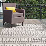 Outdoor Tribal Gretchen Rug, Farmhouse Decor, area rug, floor coverings, contemporary, transitional, light grey