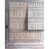 Outdoor Tribal Gretchen Rug, Farmhouse Decor, area rug, floor coverings, contemporary, transitional, beige, light grey