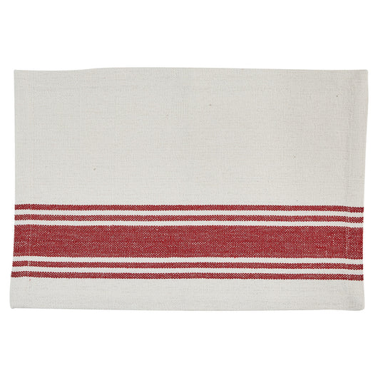 ribbon candy placemat red and white