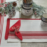 ribbon candy placemat christmas winter