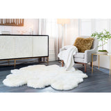 Tucker Bright and Warm Farmhouse Knitted Fleece-Lined Throw Blanket - White
