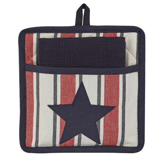 fourth of july pocket potholder set