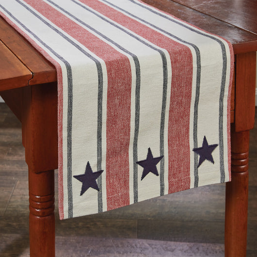 stars and stripes fourth of july table runner