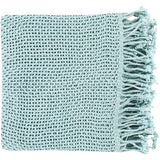 Tibey Soft and Light Open Weave Throw Blanket - Pale Blue