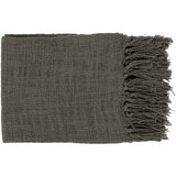 Contemporary Tilda Throw Blanket - Charcoal