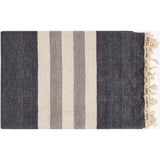 Timothy Striped Knit Throw Blanket - Charcoal