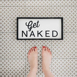 Get Naked Wood Sign Farmhouse decor wall hangings bathroom decor