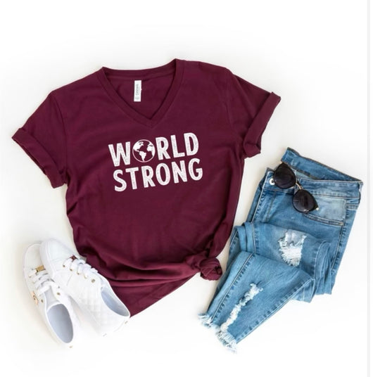world strong t shirt