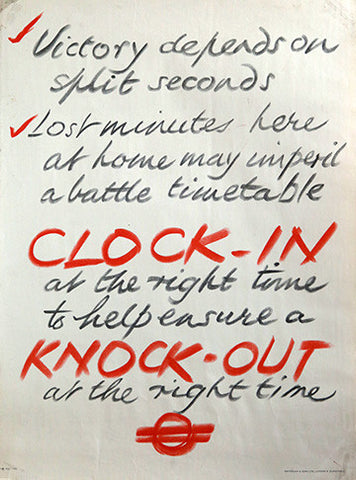 Clock In - Knock Out, by Unknown