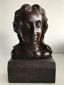 19th/20th Century Wood Carved Bust & Head