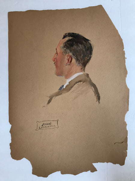 John Lagatta, Untitled: Head of a Gentleman, Early to Mid 20th Century