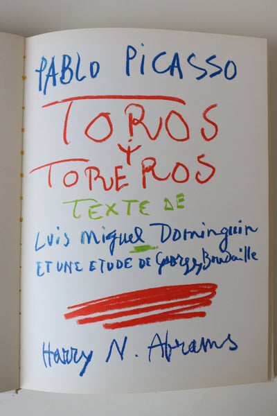 (after) Pablo Picasso, Toros y Toreros (first edition), 1961