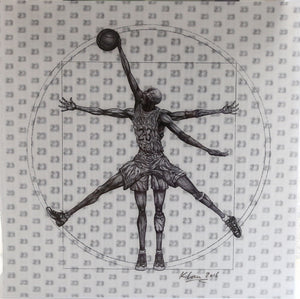 MJ Vitruvian Athlete - Black & White
