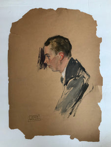 John Lagatta, Untitled: Sideview of a Gentleman, Early to Mid 20th Century