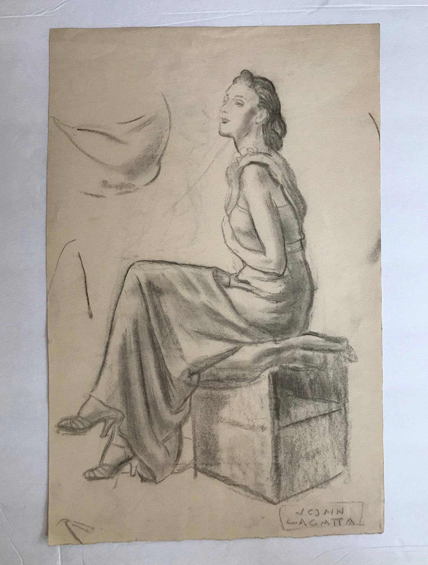 John Lagatta, Untitled: Seated Lady, Early to Mid 20th Century