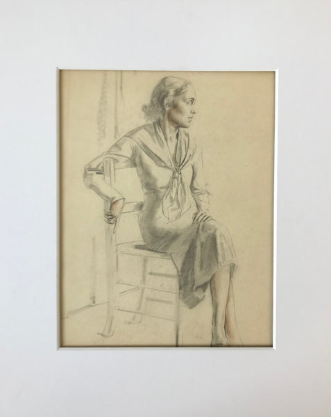 Untitled: Seated Woman In Chair