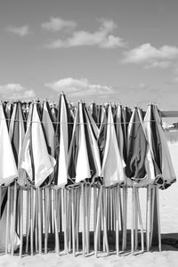 Umbrellas Bunched in the Sunday Sun