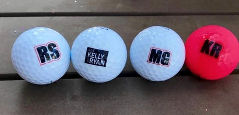 Custom Golf Balls for Kelly and Ryan