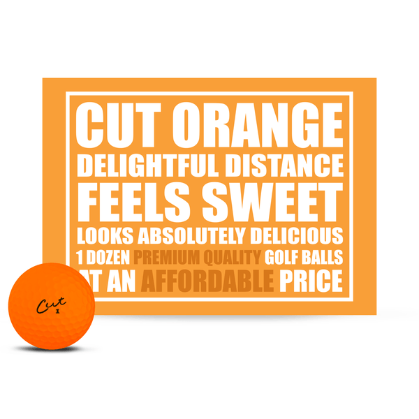 Cut Matte Orange (Dozen)