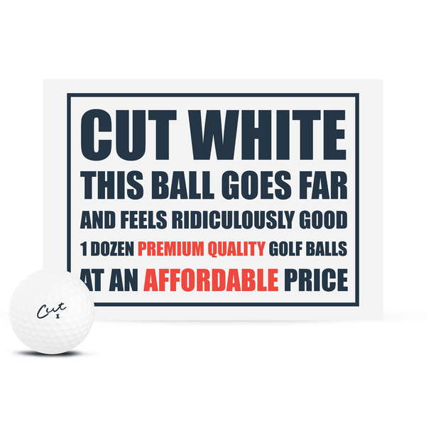 Cut Matte White (Dozen)