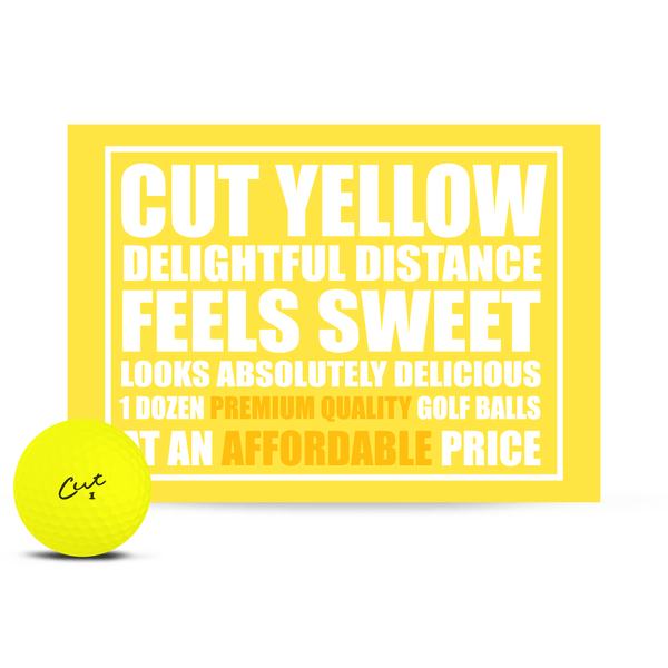 Cut Matte Yellow (Dozen)