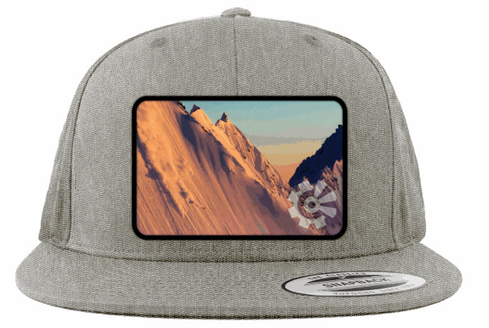 Fisher Creative Sunset Skier Snapback - Heather Grey