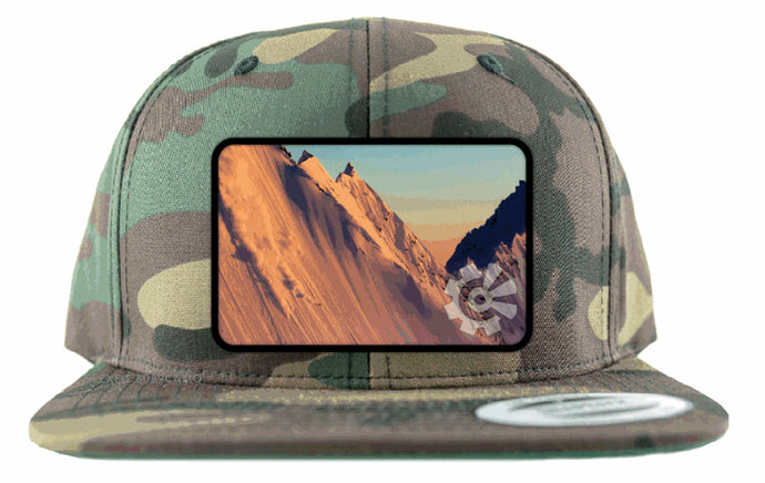 Fisher Creative Sunset Skier Snapback - Camo