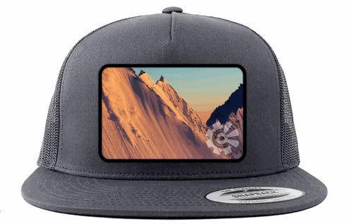 Fisher Creative Sunset Skier Trucker Hat - Charcoal