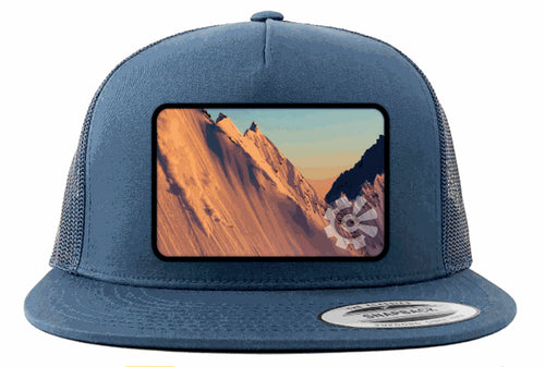 Fisher Creative Sunset Skier Trucker Hat - Navy