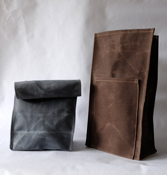 Kelly & Co. / waxed canvas lunch bag