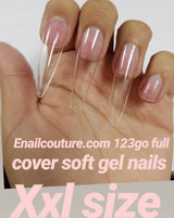 123 go  Soft Gel Full Cover Nail Tips