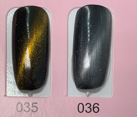 Cat eye 3D Magic gel polish Top Coat and colors