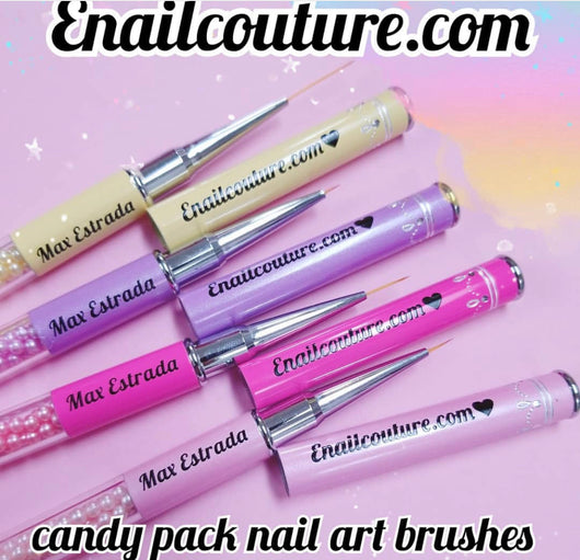 brush set of 4  (candy pack vegan nail art brushes)