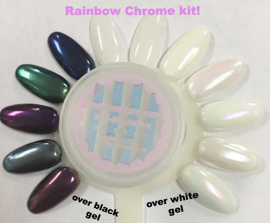 Rainbow Chrome! Magic pigment kit