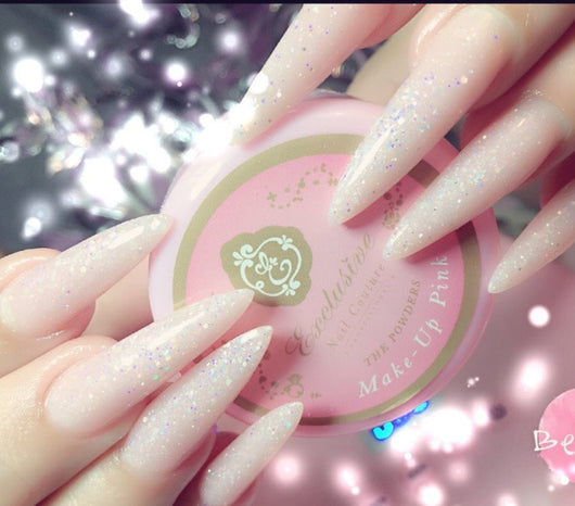 Makeup Pink acrylic powder!~