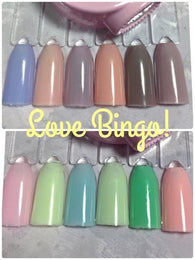 Precious Minerals Gel polish Color change 050 to 055 Love Bingo Collection