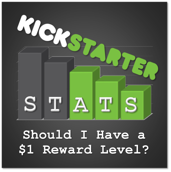 Kickstarter Stats 101: Should I Have a $1 Reward Level?