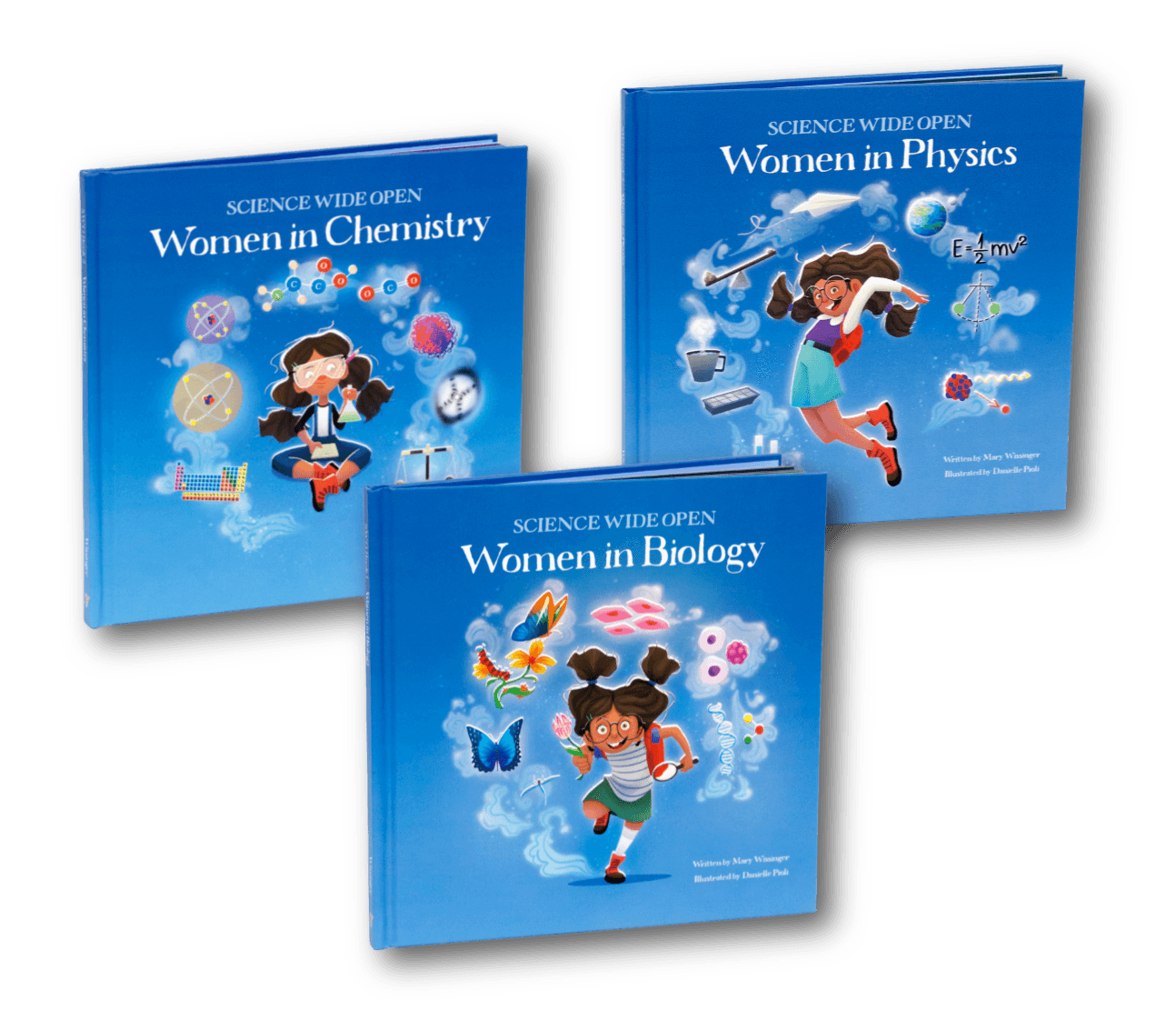 Women in Science Books for Kids! | All Three Books in the Science Wide Open series
