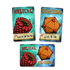 Virulence Card Game - Icosahedral and Helical Viral Component Cards
