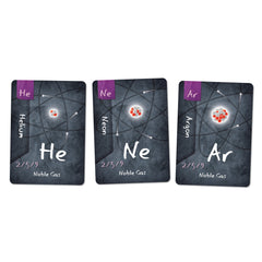 Noble Gases Helium, Neon and Argon Cards for Ion the Chemistry Card Game