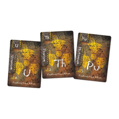 Radioactive Elements Cards Uranium, Thorium and Plutonium for Ion the Chemistry Card Game