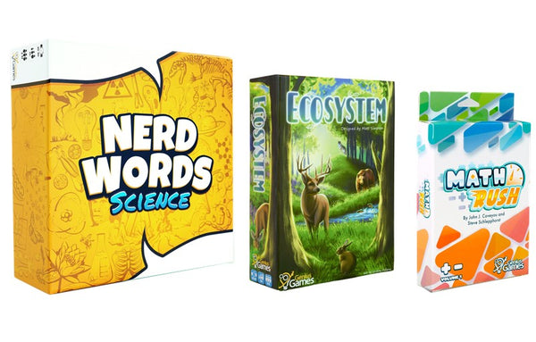 Bundle - Science Games for GameSchooling | Nerd Words: Science! + Ecosystem + Math Rush