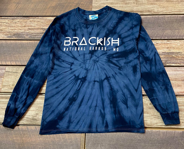 Unisex Brackish National Harbor LS Tie Dye Tee