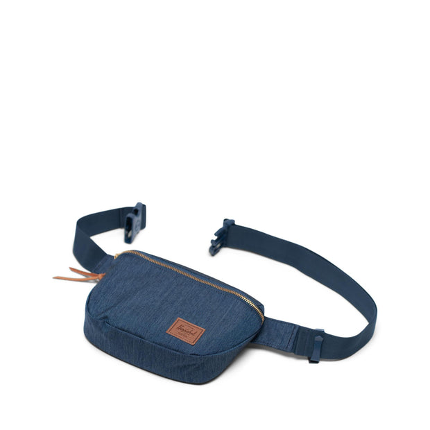 Unisex Herschel Fifteen Hip Pack | Indigo Denim Crosshatch