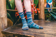 Unisex Merge 4 Tencel/Hemp Wood Grain Crew Sock