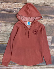 Women's Brackish Girl Gang Wave Washed PO Hood